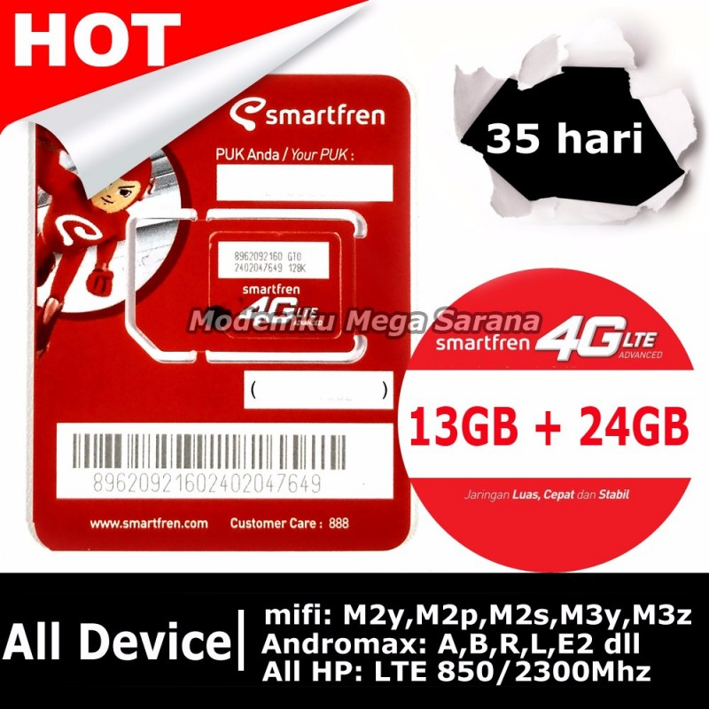 Kartu Perdana Smartfren GSM60 Kuota 13GB All Device