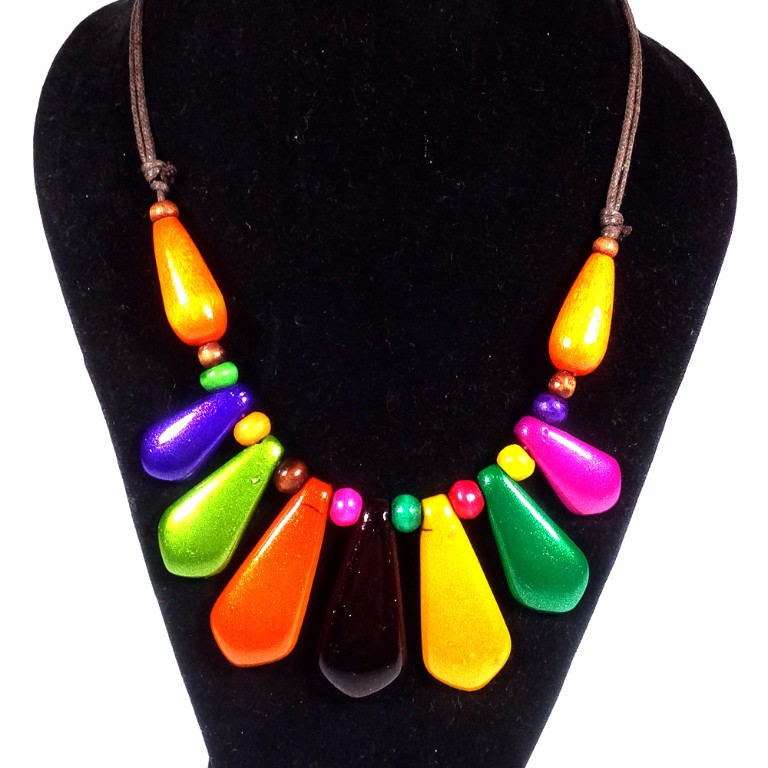 Kalung Etnik Motif KL057 - Multi Color