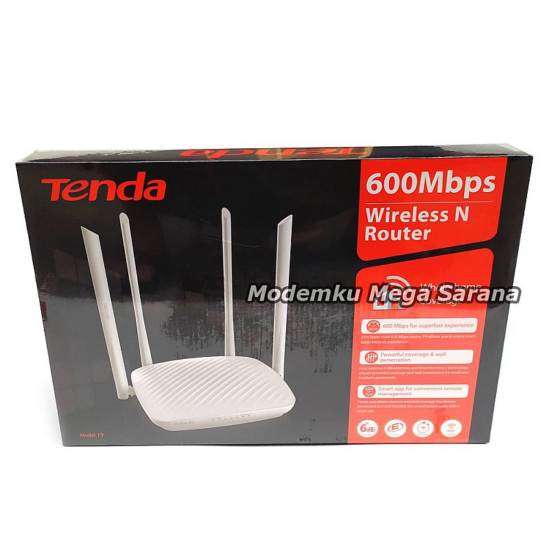 Tenda Router F9 600Mbps Wall Killer 6dBi